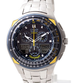 Citizen JR3090-58M Skyhawk Titanium Blue Angels Flight Chronograph Eco Drive