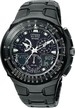 Citizen Black Eagle Promaster Skyhawk Eco-Drive Chronograph JR3159-53E / JR3156-51E / JR3155-54E