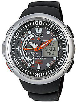 Citizen JV0000-01E Diver Promaster Cyber Aqualand Eco-Drive Divers watch 200m