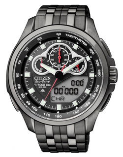 Citizen JW0097-54E Promaster Eco-Drive WR200m World Time Alarm LED Mens Solar Watch