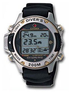 Citizen Promaster MA9004-21E Professional Divers watch (depth and temperature + diving log)