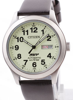 Citizen NH6990-07WB Gents Automatic OXY Lumibrite watch with leather band.