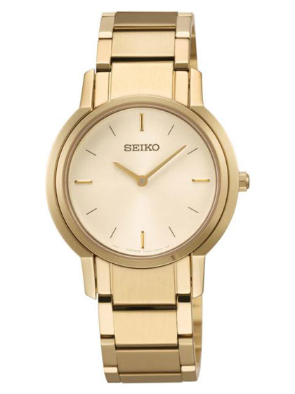 Seiko SFQ820 SFQ820P1 Ladies Watch Gold NEW WR50