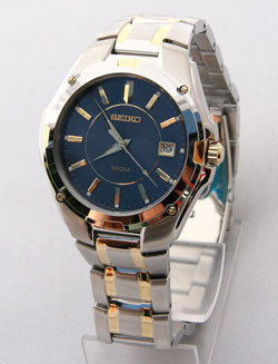 Seiko Mens Watch SGEE60 SGEE60P-9 two-tone Blue Dial Watch