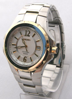Seiko SGEE68 Coutura Mens Watch SGEE68P-9 Two Tone White Dial Watch