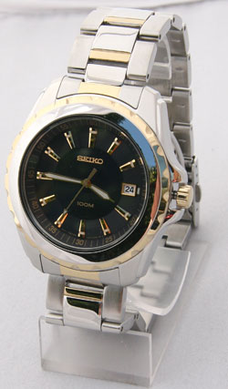 Seiko Coutura SGEE72 Mens Watch SGEE72P-9 Two Tone Blue Dial Watch