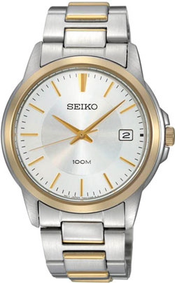 Seiko SGEF54 SGEF54P1 Mens Watch WR100m Two-Tone