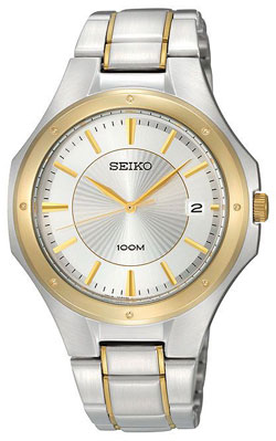 Seiko SGEF62 SGEF62P1 Mens Watch WR100m Two Tone