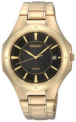 Seiko SGEF66 SGEF66P1 Mens Watch WR100m Gold Plated