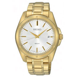 Seiko SGEF86 SGEF86P1 Mens Watch WR100m Gold Plated