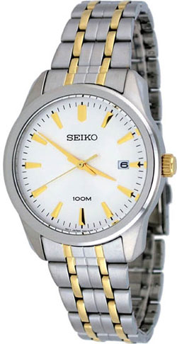 Seiko SGEG07 SGEG07P1 Mens Watch WR100m Two-Tone