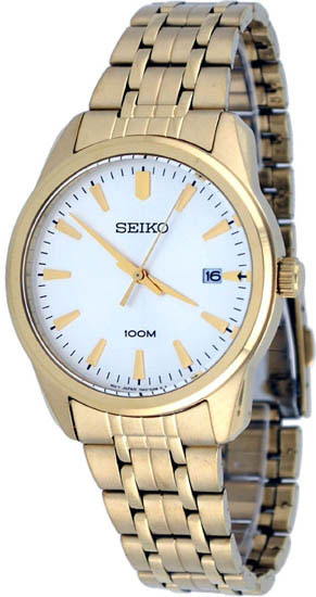 Seiko SGEG12 SGEG12P1 Mens Dress Watch Gold WR100m