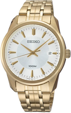 Seiko SGEG12 SGEG12P1 Mens Watch Gold WR100m