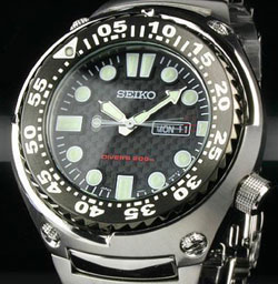 Seiko SHC061 Mens Diving Watch Quartz 200m Stainless Steel in gift box watch