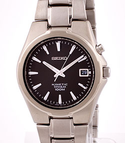 SEIKO Titanium Kinetic 100m Watch SKA211 in gift box