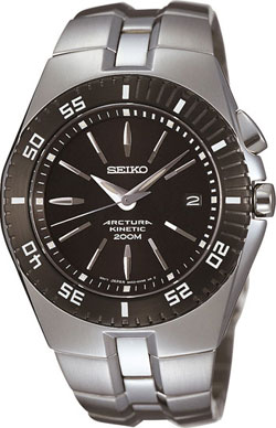 Seiko Arctura Kinetic WR200m Gents watch SKA257 in gift box - wrist watch
