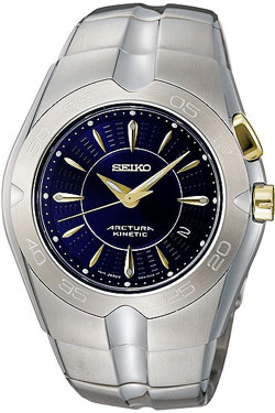 Seiko Arctura Kinetic Gents watch SKA287 (two-tone) in gift box - wrist watch