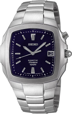 Seiko Titanium Kinetic Gents watch SKA357 in gift box - wrist watch