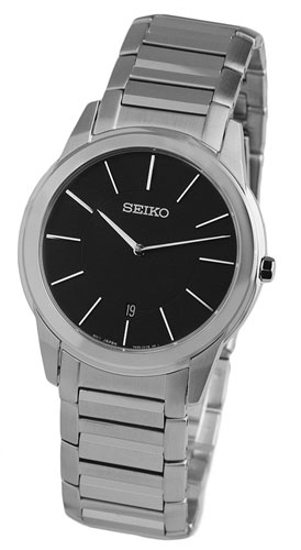 Seiko SKP369 SKP369P1 Mens Watch elegant Black Dial