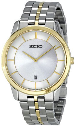 Seiko SKP382 SKP382P SKP382P1 Mens Watch Two Tone Stainless Steel
