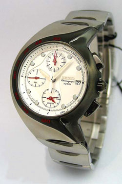 Seiko Alarm Chronograph SNA309P Mens Watch