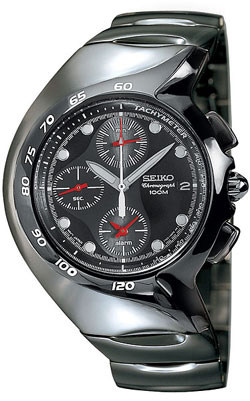 Seiko Streamline Alarm Gents Chronograph SNA311 in gift box - wrist watch