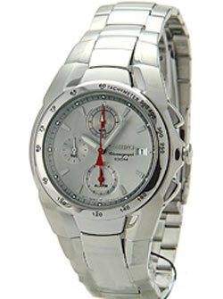 Seiko Mens Alarm Chronograph SNA519 in gift box watch