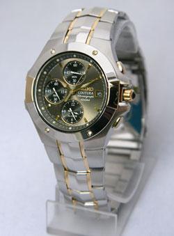 Seiko Coutura SNA548 SNA548P SNA548P9 Mens Alarm Chronograph Watch