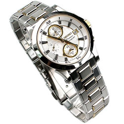SEIKO Premier Gents Alarm Chronograph SNA586P SNA586 in gift box watch
