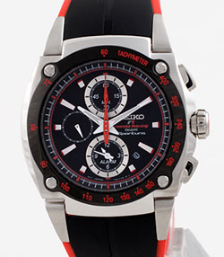 SEIKO SNA749 2006 Sportura Honda Racing F-1 Chronograph in gift box - wrist watch
