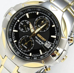 Seiko SNAA02 SNAA02P SNAA02p-9 Mens Watch Alarm Chronograph