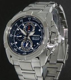 Seiko Velatura 100m Mens Alarm Chronograph SNAA91 SNAA91P SNAA91P1 watch