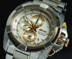 Seiko SNAA92 Velatura SNAA92P1 SNAA92P Alarm Tachymeter Chronograph Mens Watch
