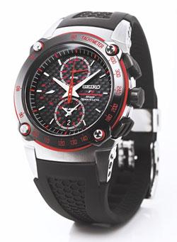 Seiko SNAC03 Mens Formula 1 Honda Sportura Alarm Chronograph Rubber Strap