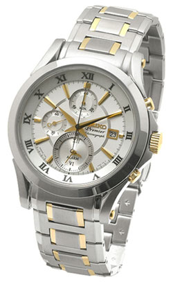 Seiko SNAD28 Premier Chronograph Alarm Mens Watch SNAD28P1 SNAD28P SNAD28