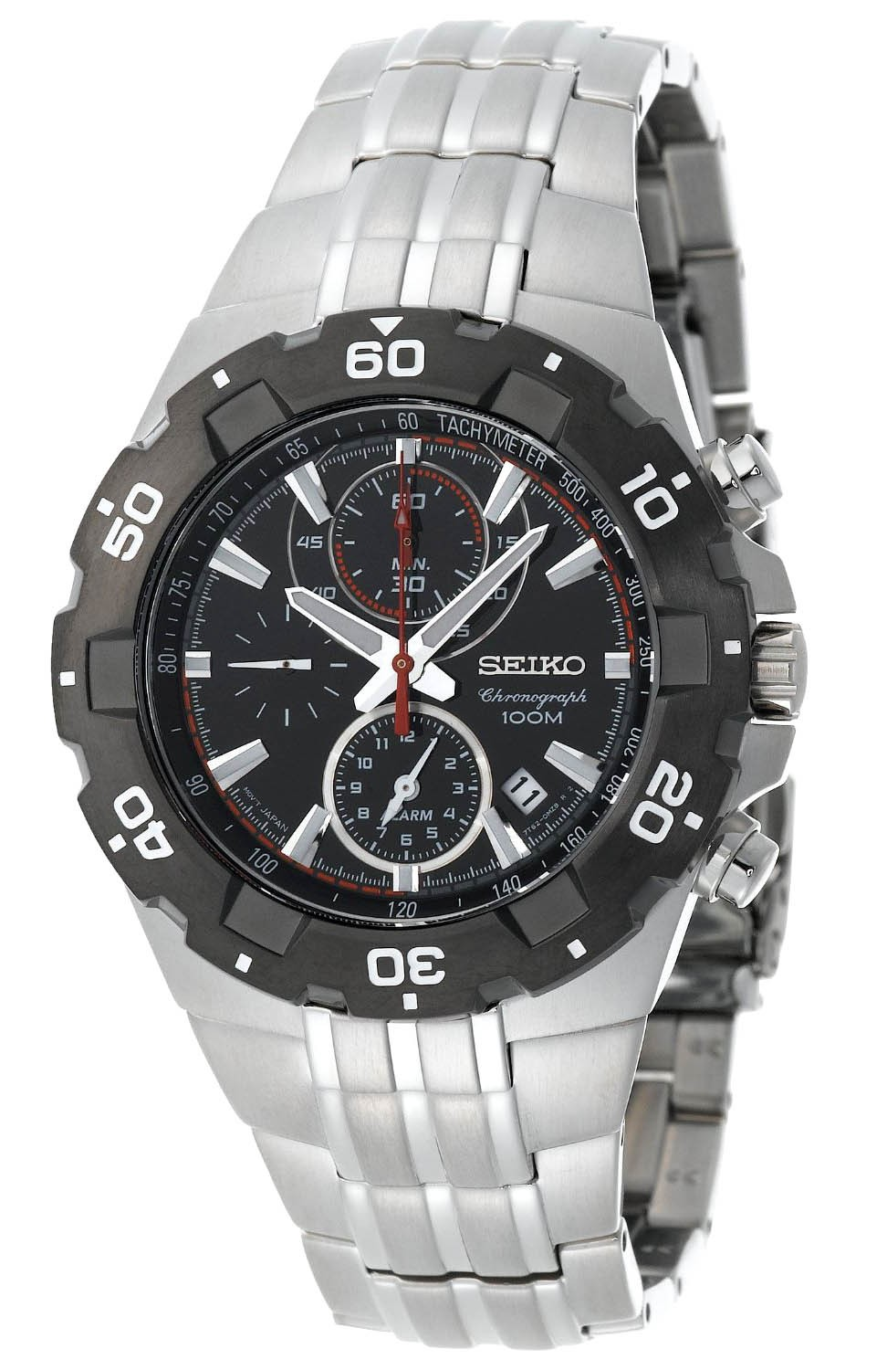 Seiko Alarm Chronograph SNAD35 SNAD35P SNAD35P1 WR100m Mens Watch