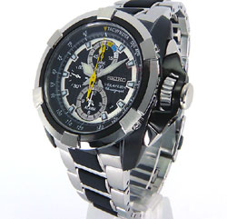 Seiko SNAE21 SNAE21P SNAE21P1 Mens Velatura Alarm Chronograph Watch