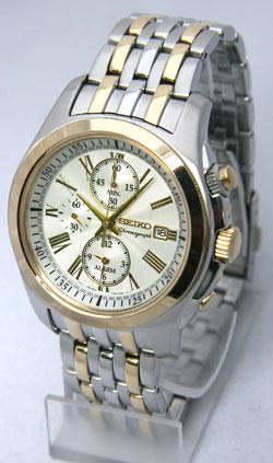 Seiko SNAE32 SNAE32P SNAE32P1 Mens Alarm Chronograph Watch