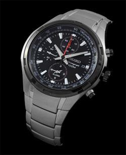 Seiko SNAE43 SNAE43P SNAE43P1 Mens Alarm Chronograph Watch
