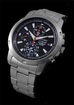 Seiko SNAE47 SNAE47P1 SNAE47P Alarm Chronograph Titanium Mens Watch