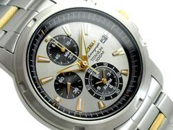Seiko SNAE49 SNAE49P1 Titanium Alarm Chronograph Mens Watch