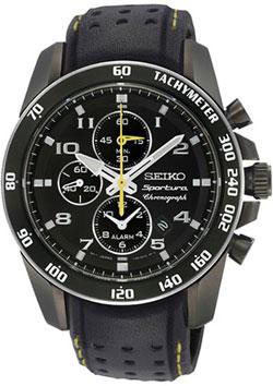 Seiko SNAE67 SNAE67P1 SNAE67P Sportura Mens Alarm Chronograph Watch