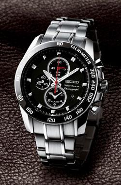 Seiko SNAE69 SNAE69P SNAE69P1 Mens Alarm Chronograph Watch