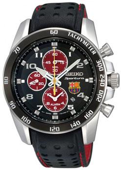 Seiko SNAE75 SNAE75P1 Sportura FC Barcelona Alarm Chronograph Mens Watch