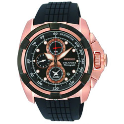 Seiko SNAE76 SNAE76P SNAE76P1 Velatura Alarm Chronograph Mens Watch