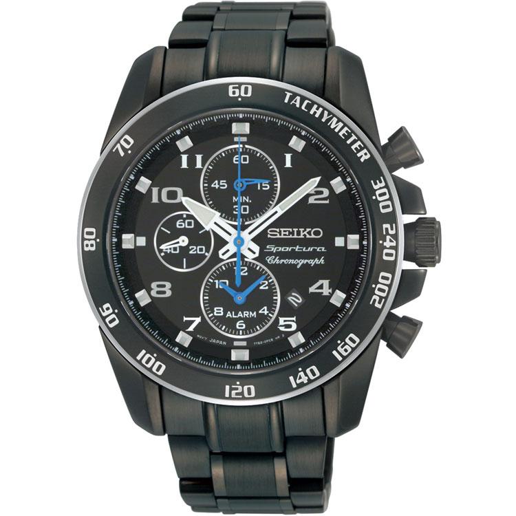 Seiko SNAE77 SNAE77P SNAE77P1 Sportura Mens Alarm Chronograph Watch