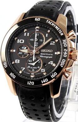 Seiko SNAE80 SNAE80P1 Sportura Chronograph Alarm Mens Watch