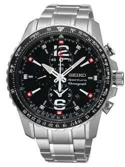 Seiko SNAE95 SNAE95P1 SNAE95P Sportura Mens Chronograph Alarm Watch