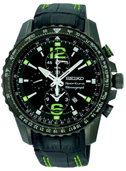 Seiko SNAE97 SNAE97P1 SNAE97P Sportura Mens Chronograph Alarm Watch