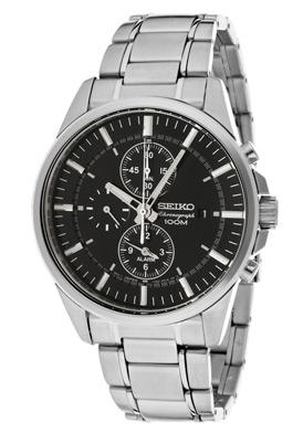 Seiko SNAF03 SNAF03P1 Mens Alarm Chronograph Watch WR100m